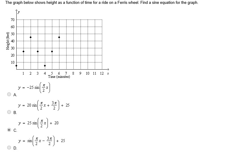 the graph below shows height as a function of time for a
