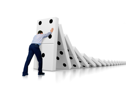 dominoes falling??no??