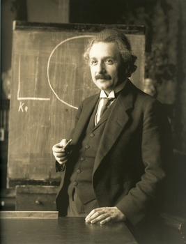 Einstein in 1921, at age 42.