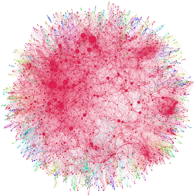 Co-authorship network map of physicians publishing on hepatitis C by Andy Lamb