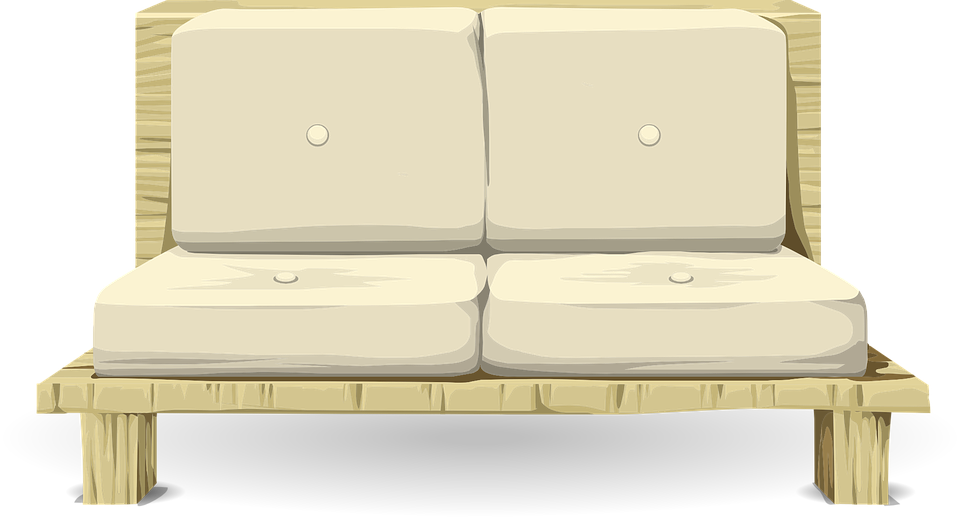 A futon is a couch that can also be folded flat to serve as a bed.