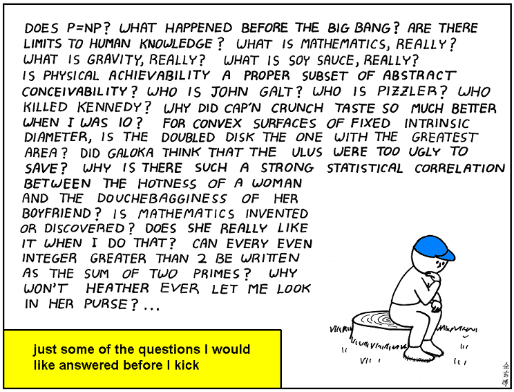Abstruse Goose (So many questions)