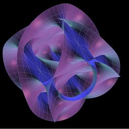 Cross-section of a 6D Calabi-Yau manifold