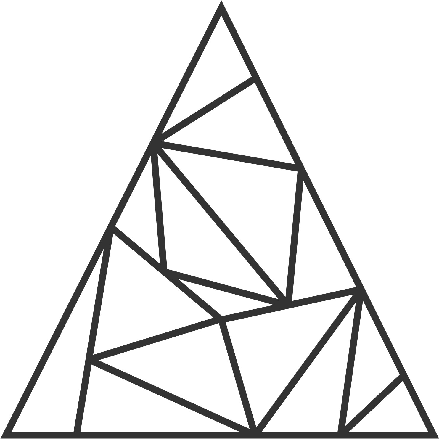 A triangulation of a 2-simplex