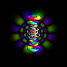 This is a representation of a hydrogen atom in the state \(n = 12, \ell = 6, m_{\ell}=6.\)