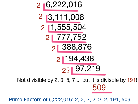 Prime Factorization of 6222016