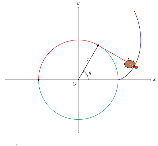how to draw involute of a circle