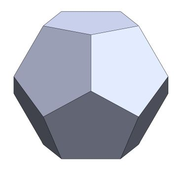 geometry problem on regular polyhedra that other dodecahedron