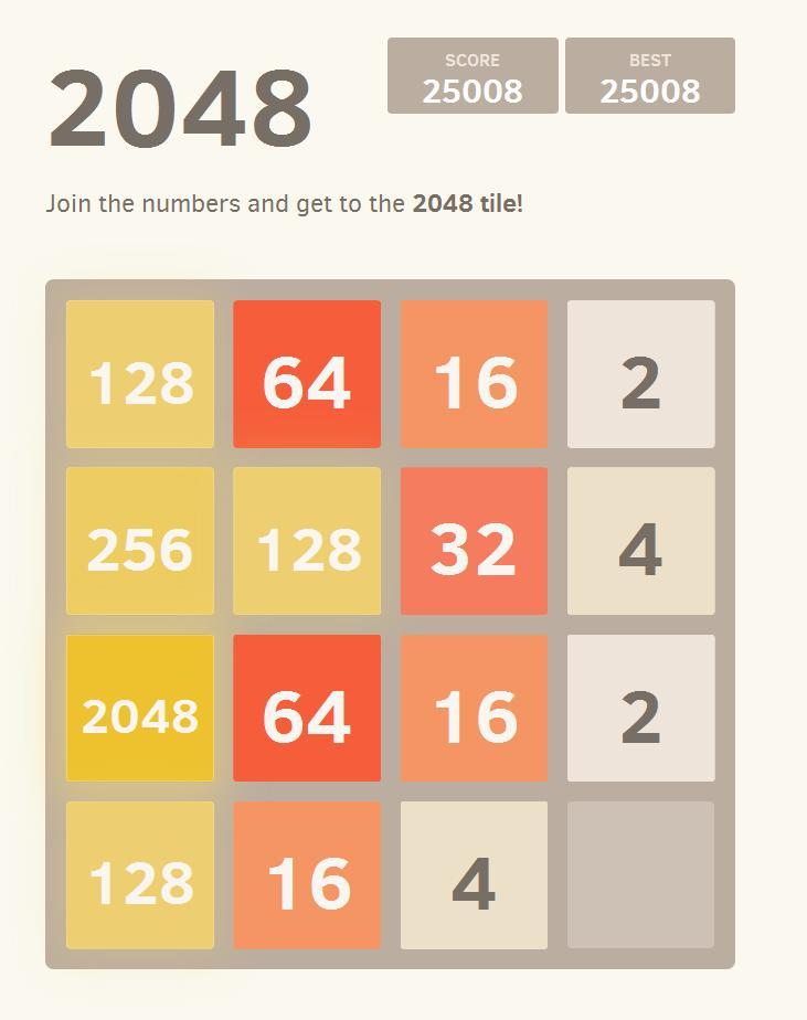 Hasil gambar untuk game 2048 number puzzle