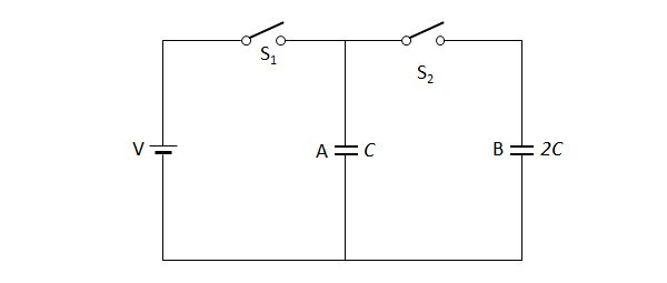 Electricity And Magnetism Problem On Capacitors  Electric