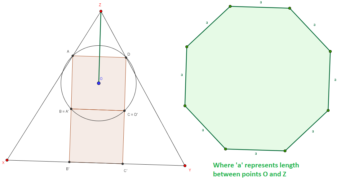 Basically: Calculate the green region